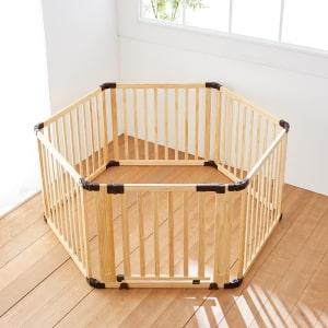 日本育児 たためる木製サークル フレックスDX